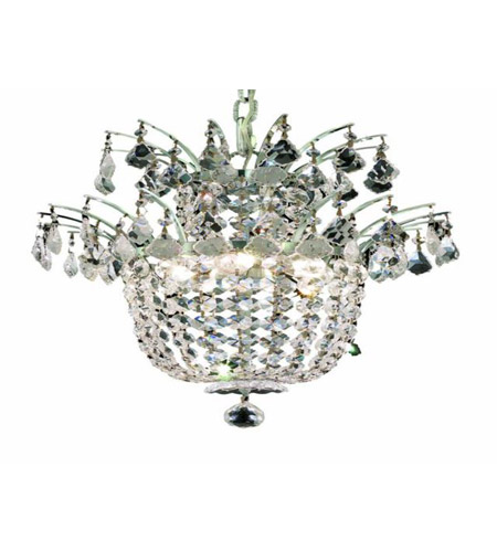 Elegant Lighting Flora 3 Light Chandelier in Chrome with Royal Cut Clear Crystals 5800D15C/RC photo