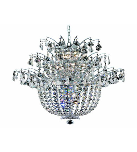 Elegant Lighting 5800D23C/EC Flora 15 Light 23 inch Chrome Chandelier Ceiling Light in Elegant Cut photo