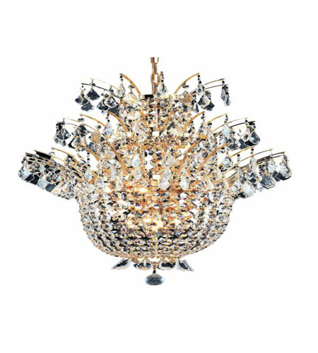 Elegant Lighting 5800D23G/EC Flora 15 Light 23 inch Gold Chandelier Ceiling Light in Elegant Cut photo
