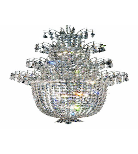 Elegant Lighting Flora 18 Light Chandelier in Chrome with Spectra Swarovski Clear Crystals 5800D27C/SA photo