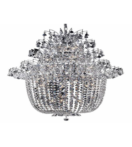 Elegant Lighting 5800G31C/EC Flora 25 Light 31 inch Chrome Chandelier Ceiling Light in Elegant Cut photo