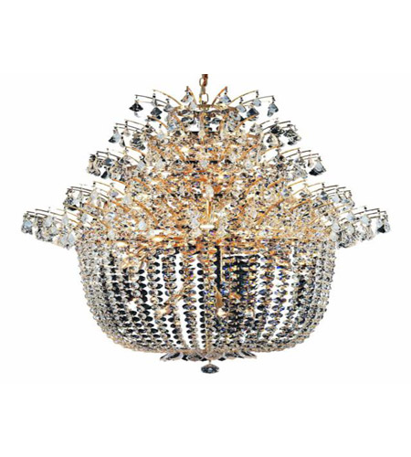 Elegant Lighting Flora 25 Light Chandelier in Gold with Elegant Cut Clear Crystals 5800G31G/EC photo