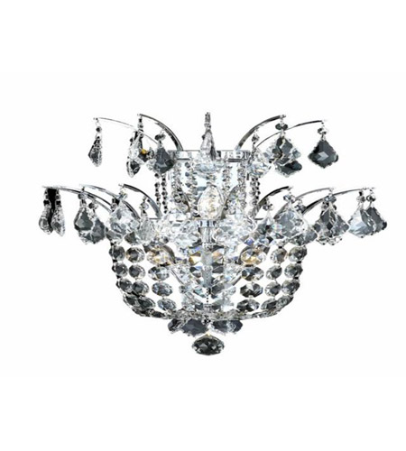 Elegant Lighting 5800W15C/SS Flora 3 Light 15 inch Chrome Wall Sconce Wall Light in Swarovski Strass photo