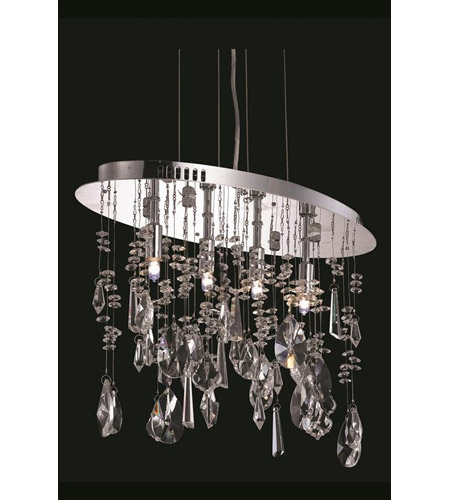 Elegant Lighting 5902D18C/RC Mirage 4 Light 10 inch Chrome Dining Chandelier Ceiling Light photo