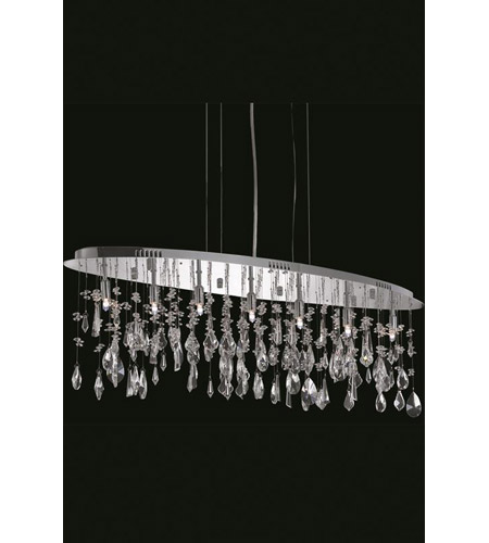 Elegant Lighting Mirage 7 Light Dining Chandelier in Chrome with Royal Cut Clear Crystal 5902D38C/RC photo