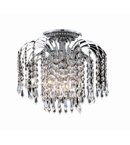 Elegant Lighting Falls 4 Light Flush Mount in Chrome with Spectra Swarovski Clear Crystal 6801F16C/SA photo