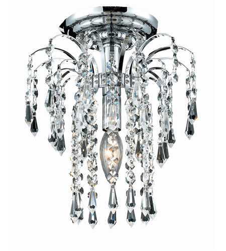 Elegant Lighting 6801F9C/SA Falls 1 Light 9 inch Chrome Flush Mount Ceiling Light in Spectra Swarovski photo