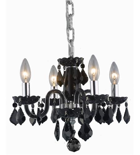 Elegant Lighting V7804D15B-JT/RC Rococo 4 Light 15 inch Black Dining Chandelier Ceiling  sc 1 st  Elegant Lighting Lights & Elegant Lighting V7804D15B-JT/RC Rococo 4 Light 15 inch Black Dining ...