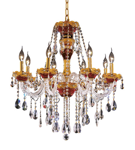 Elegant Lighting 7810D26G/EC Alexandria 8 Light 26 inch Gold Dining Chandelier Ceiling Light in Elegant Cut photo