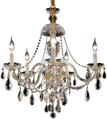 Elegant Lighting 7829D25G/RC Alexandria 5 Light 25 inch Gold Dining Chandelier Ceiling Light in Royal Cut photo