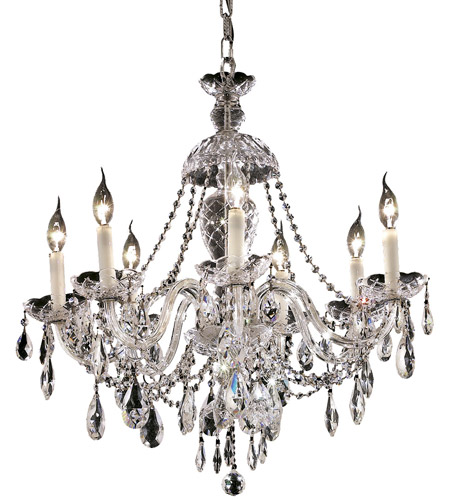Elegant Lighting 7829D26C/EC Alexandria 7 Light 26 inch Chrome Dining Chandelier Ceiling Light in Elegant Cut photo