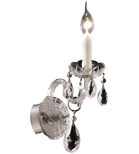 Elegant Lighting Alexandria 1 Light Wall Sconce in Chrome with Royal Cut Clear Crystal 7829W1C/RC photo