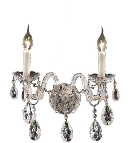 Elegant Lighting 7829W2C/SS Alexandria 2 Light 13 inch Chrome Wall Sconce Wall Light in Swarovski Strass photo