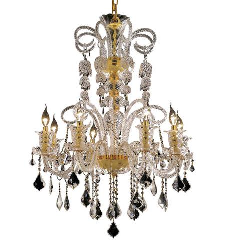 Elegant Lighting Elizabeth 8 Light Dining Chandelier in Gold with Royal Cut Clear Crystal 7830D29G/RC photo