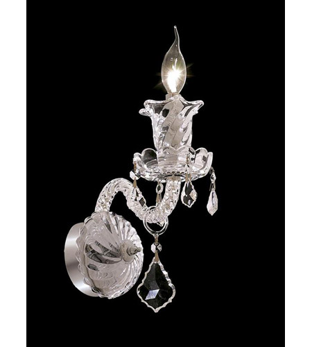 Elegant Lighting Elizabeth 1 Light Wall Sconce in Chrome with Spectra Swarovski Clear Crystal 7830W1C/SA photo