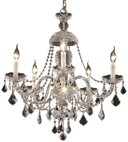 Elegant Lighting 7831D25C/SA Alexandria 5 Light 25 inch Chrome Dining Chandelier Ceiling Light in Spectra Swarovski photo