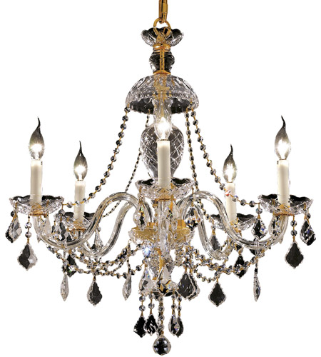 Elegant Lighting 7831D25G/RC Alexandria 5 Light 25 inch Gold Dining Chandelier Ceiling Light in Royal Cut photo