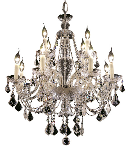 Elegant Lighting 7831D28C/SS Alexandria 12 Light 28 inch Chrome Dining Chandelier Ceiling Light in Swarovski Strass photo