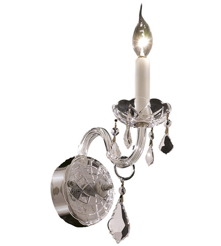 Elegant Lighting Alexandria 1 Light Wall Sconce in Chrome with Elegant Cut Clear Crystal 7831W1C/EC photo