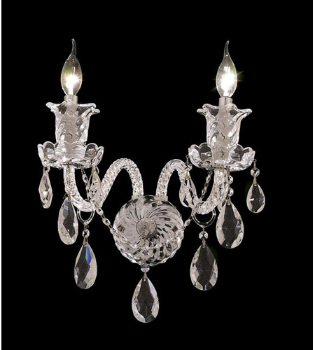 Elegant Lighting Elizabeth 2 Light Wall Sconce in Chrome with Royal Cut Clear Crystal 7832W2C/RC photo