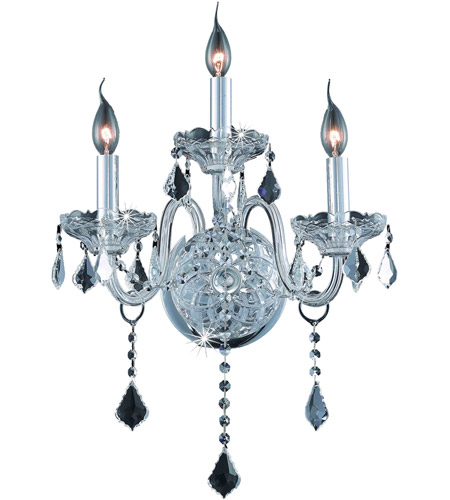 Elegant Lighting 7853W3C/RC Verona 3 Light 14 inch Chrome Wall Sconce Wall Light in Clear, Royal Cut photo