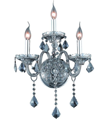 Elegant Lighting 7853W3SS-SS/RC Verona 3 Light 14 inch Silver Shade Wall Sconce Wall Light in Royal Cut photo