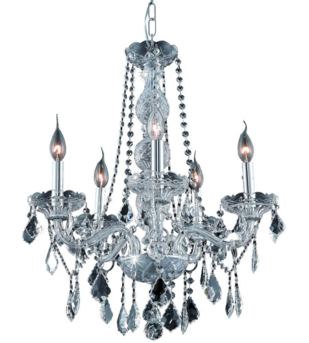 Elegant Lighting 7855D21C/EC Verona 5 Light 21 inch Chrome Dining Chandelier Ceiling Light in Clear, Elegant Cut photo