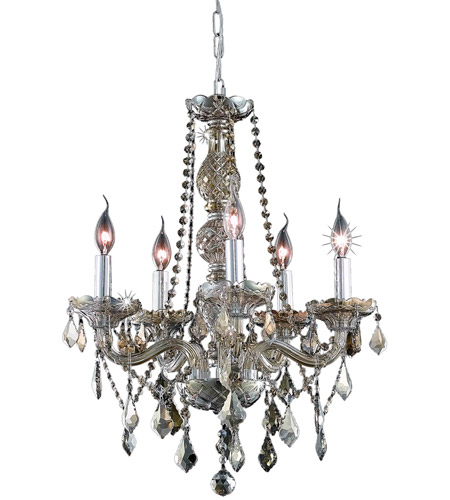 Elegant Lighting Golden Teak Verona Chandeliers