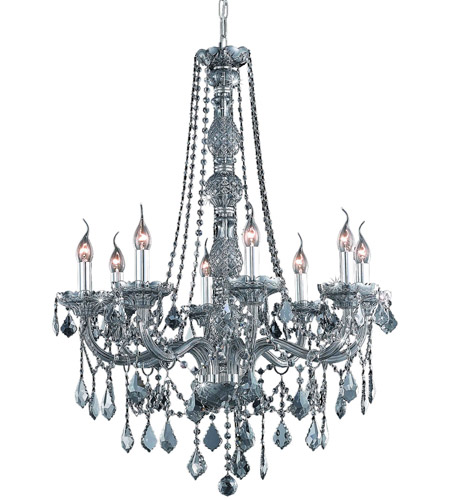 Elegant Lighting Verona 8 Light Dining Chandelier in Silver Shade with Swarovski Strass Silver Shade Crystal 7858D28SS-SS/SS photo