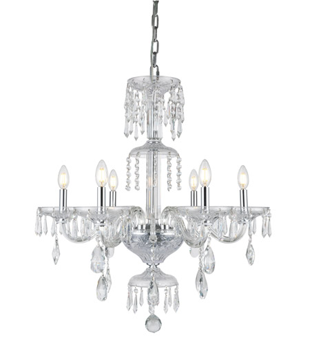 Elegant Lighting Chrome Glass Chandeliers