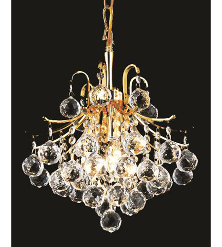 Elegant Lighting V8000D12G/RC Toureg 3 Light 12 inch Gold Pendant Ceiling Light in Royal Cut alternative photo thumbnail