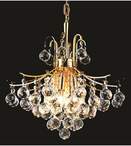 Elegant Lighting V8000D16G/EC Toureg 6 Light 16 inch Gold Dining Chandelier Ceiling Light in Elegant Cut photo