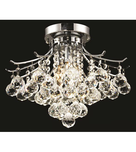 Elegant Lighting Toureg 3 Light Flush Mount in Chrome with Royal Cut Clear Crystal 8000F16C/RC photo