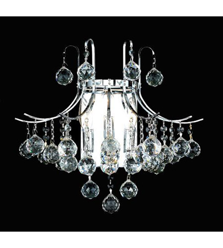 Elegant Lighting Toureg 3 Light Wall Sconce in Chrome with Royal Cut Clear Crystal 8000W16C/RC photo