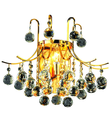 Elegant Lighting 8000W16G/SA Toureg 3 Light 16 inch Gold Wall Sconce Wall Light in Spectra Swarovski photo