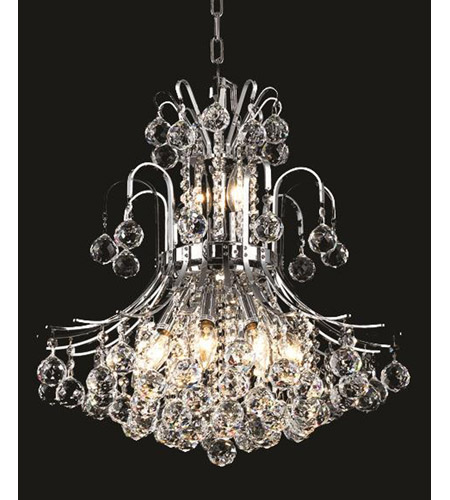 Elegant Lighting Toureg 10 Light Dining Chandelier in Chrome with Swarovski Strass Clear Crystal 8001D19C/SS photo