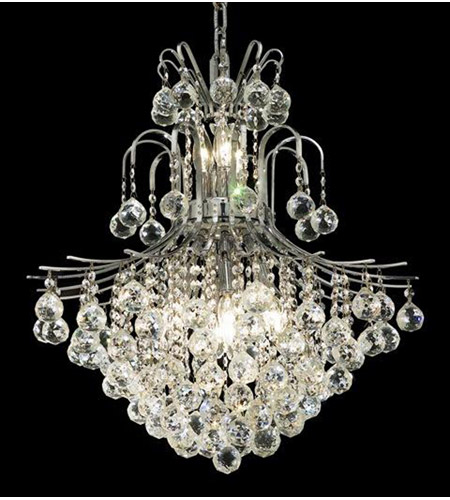 Elegant Lighting 8002D22C/RC Toureg 11 Light 22 inch Chrome Dining Chandelier Ceiling Light in Royal Cut photo