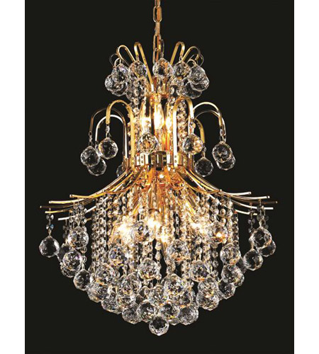 Elegant Lighting Toureg 11 Light Dining Chandelier in Gold with Royal Cut Clear Crystal 8002D22G/RC photo