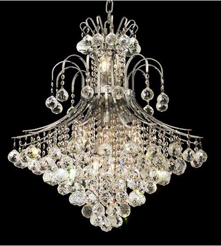 Elegant Lighting 8003D25C/SS Toureg 15 Light 25 inch Chrome Dining Chandelier Ceiling Light in Swarovski Strass photo