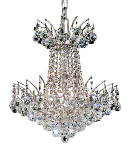 Elegant Lighting V8031D16C/RC Victoria 4 Light 16 inch Chrome Dining Chandelier Ceiling Light in Royal Cut photo