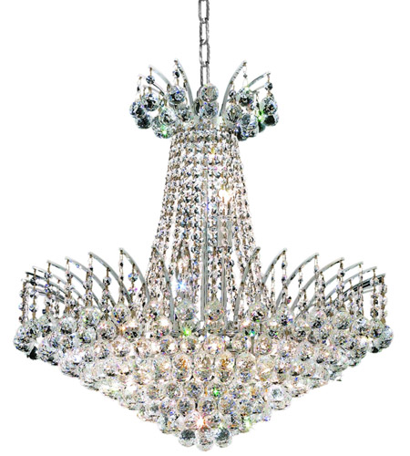 Elegant Lighting Victoria 11 Light Dining Chandelier in Chrome with Spectra Swarovski Clear Crystal 8031D24C/SA photo
