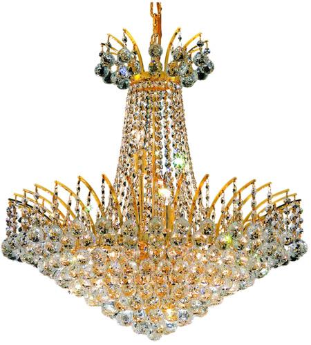 Elegant Lighting Victoria 11 Light Dining Chandelier in Gold with Elegant Cut Clear Crystal 8031D24G/EC photo