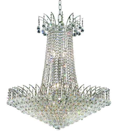 Elegant Lighting 8031D29C/SA Victoria 16 Light 29 inch Chrome Dining Chandelier Ceiling Light in Spectra Swarovski photo