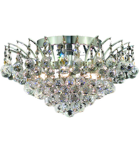 Elegant Lighting Victoria 6 Light Flush Mount in Chrome with Spectra Swarovski Clear Crystal 8031F16C/SA photo