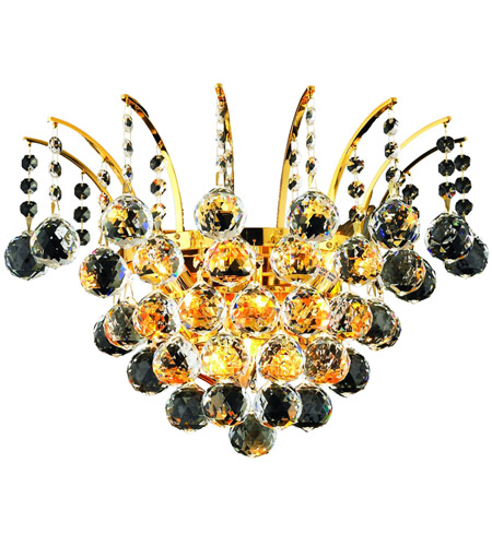 Elegant Lighting 8031W16G/SS Victoria 3 Light 16 inch Gold Wall Sconce Wall Light in Swarovski Strass photo