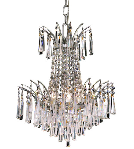 Elegant Lighting Victoria 4 Light Dining Chandelier in Chrome with Royal Cut Clear Crystal 8032D16C/RC photo