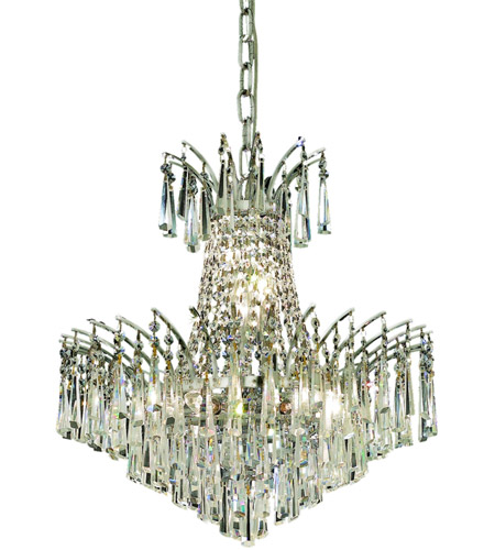 Elegant Lighting Victoria 8 Light Dining Chandelier in Chrome with Swarovski Strass Clear Crystal 8032D19C/SS photo