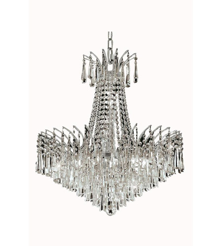 Elegant Lighting Victoria 11 Light Dining Chandelier in Chrome with Spectra Swarovski Clear Crystal 8032D24C/SA photo