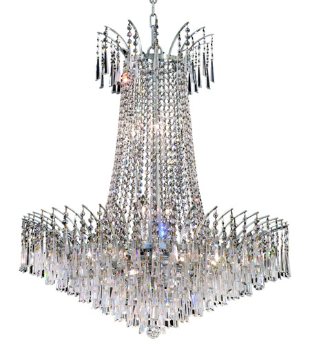 Elegant Lighting Victoria 16 Light Dining Chandelier in Chrome with Spectra Swarovski Clear Crystal 8032D29C/SA photo