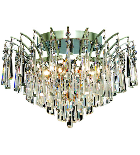 Elegant Lighting Victoria 6 Light Flush Mount in Chrome with Spectra Swarovski Clear Crystal 8032F16C/SA photo